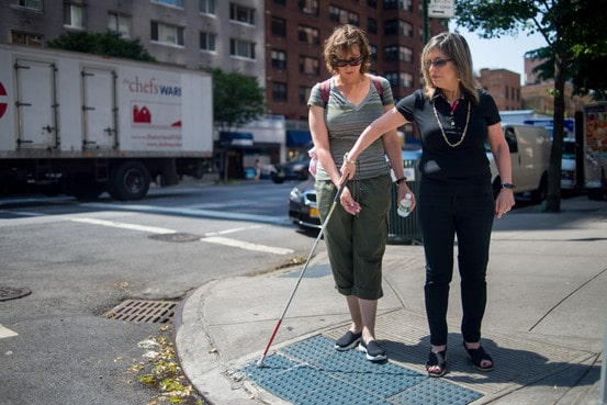 For The Newly Blind A Guiding Hand On The City S Streets